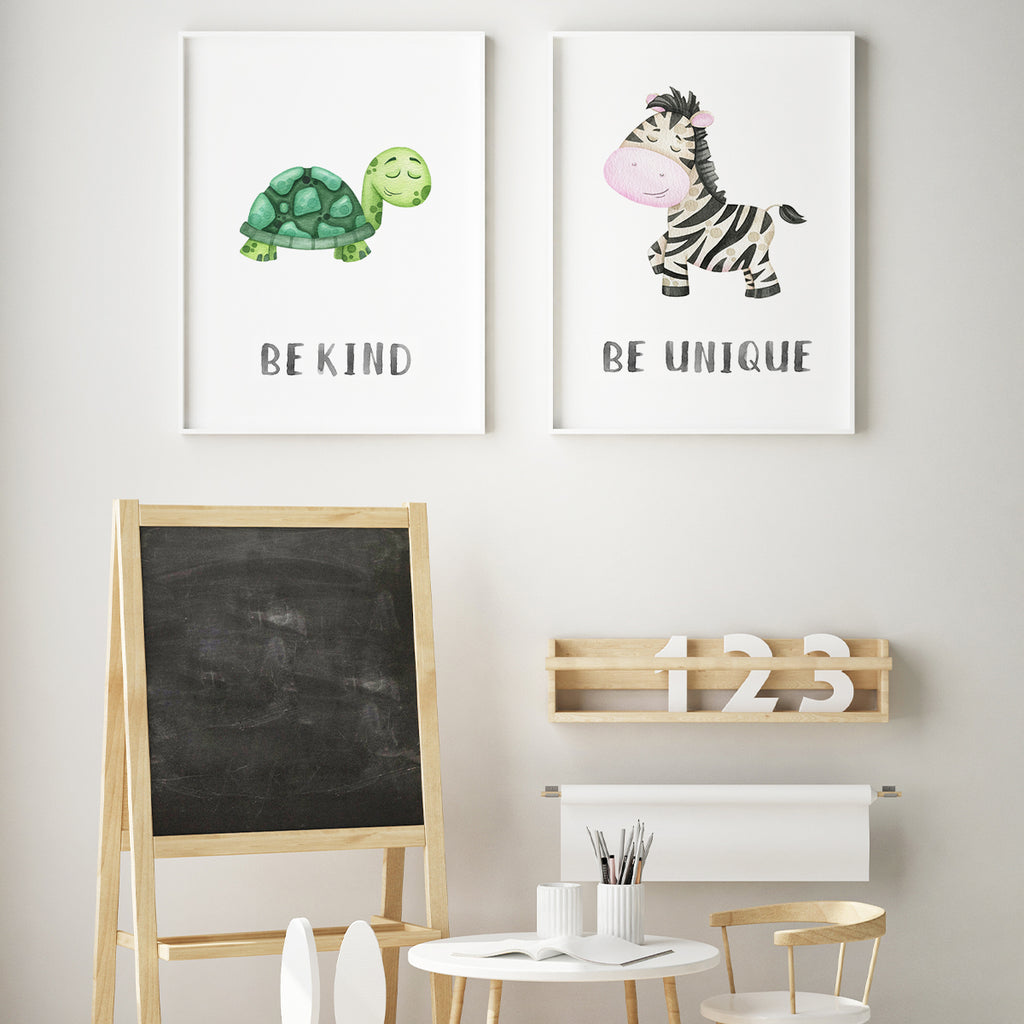 Character animals - Zebra Fine Art Print