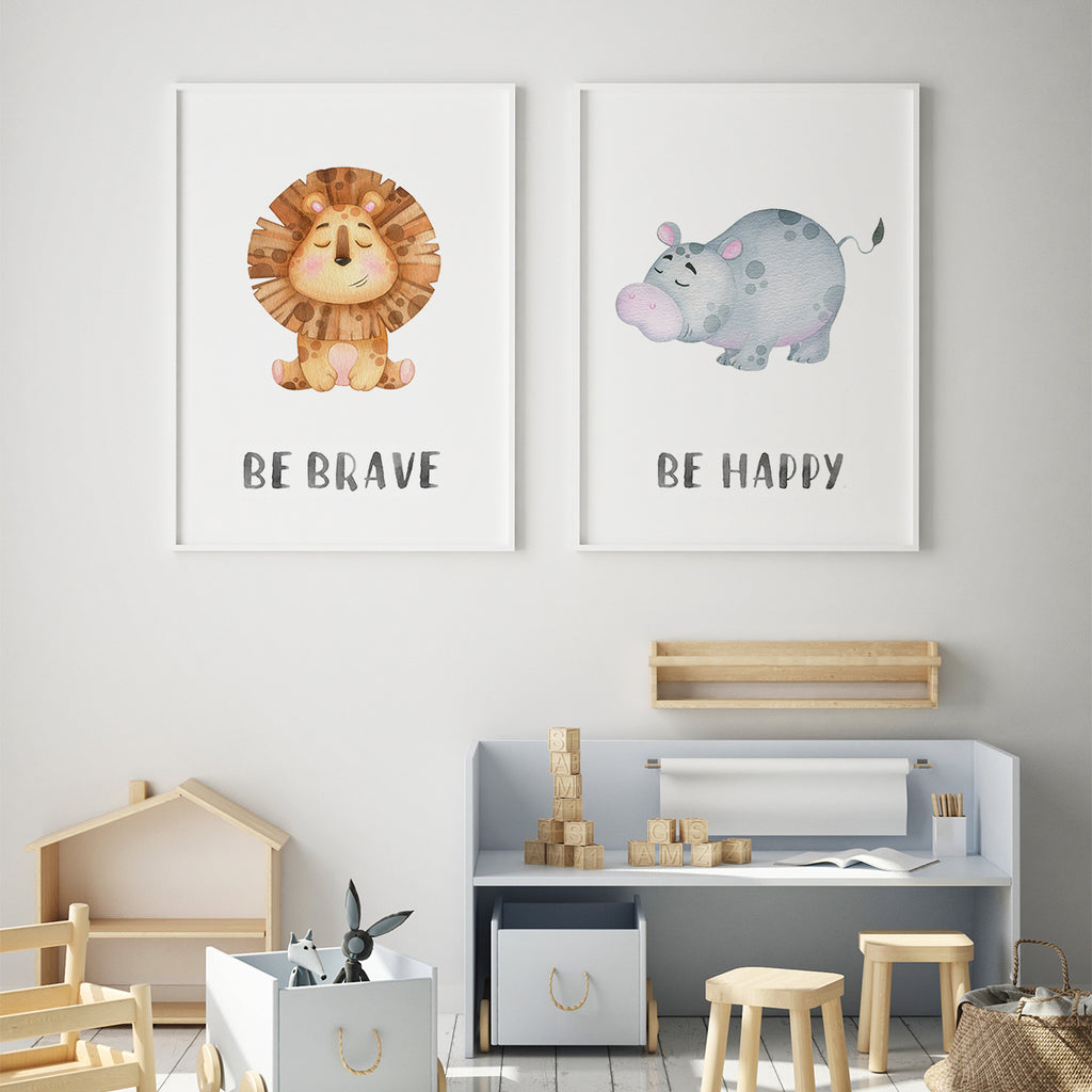 Character animals - Hippo Fine Art Print