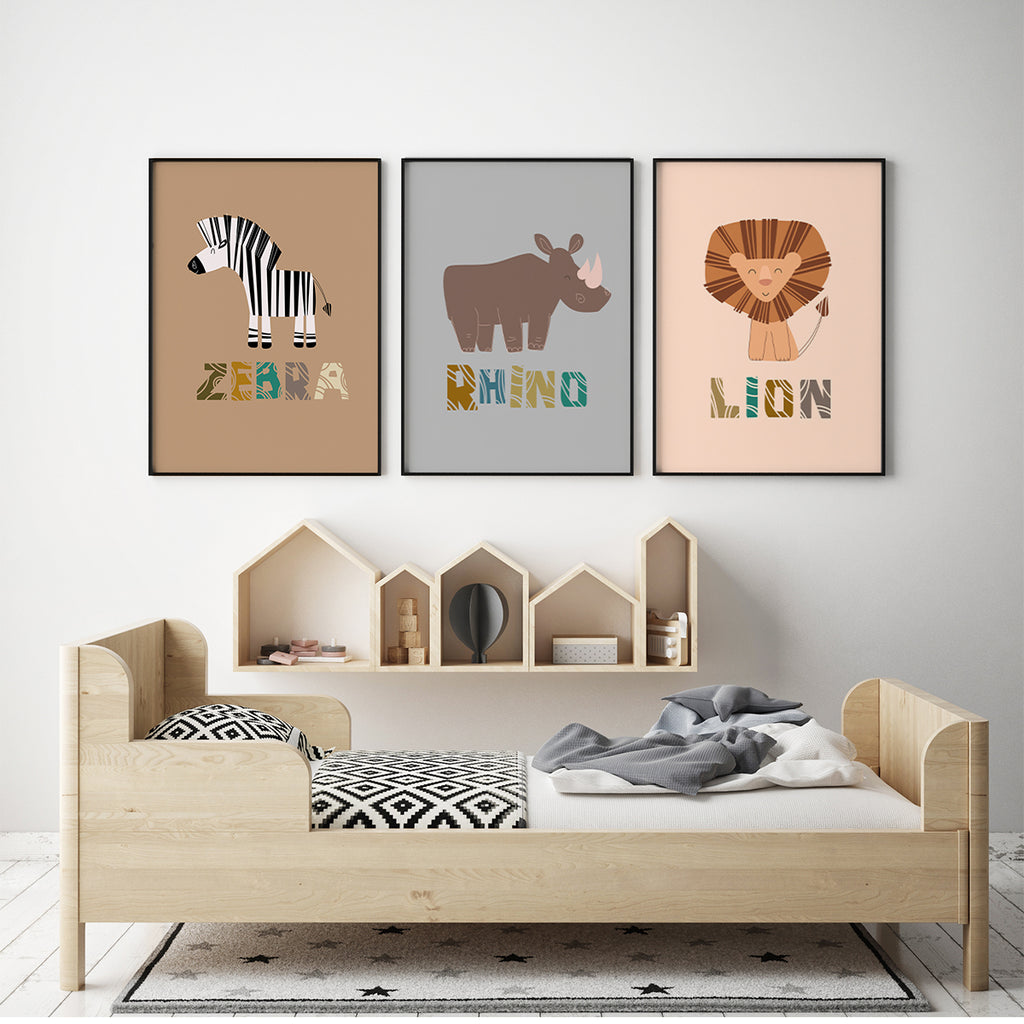 Safari animals - Zebra Fine Art Print