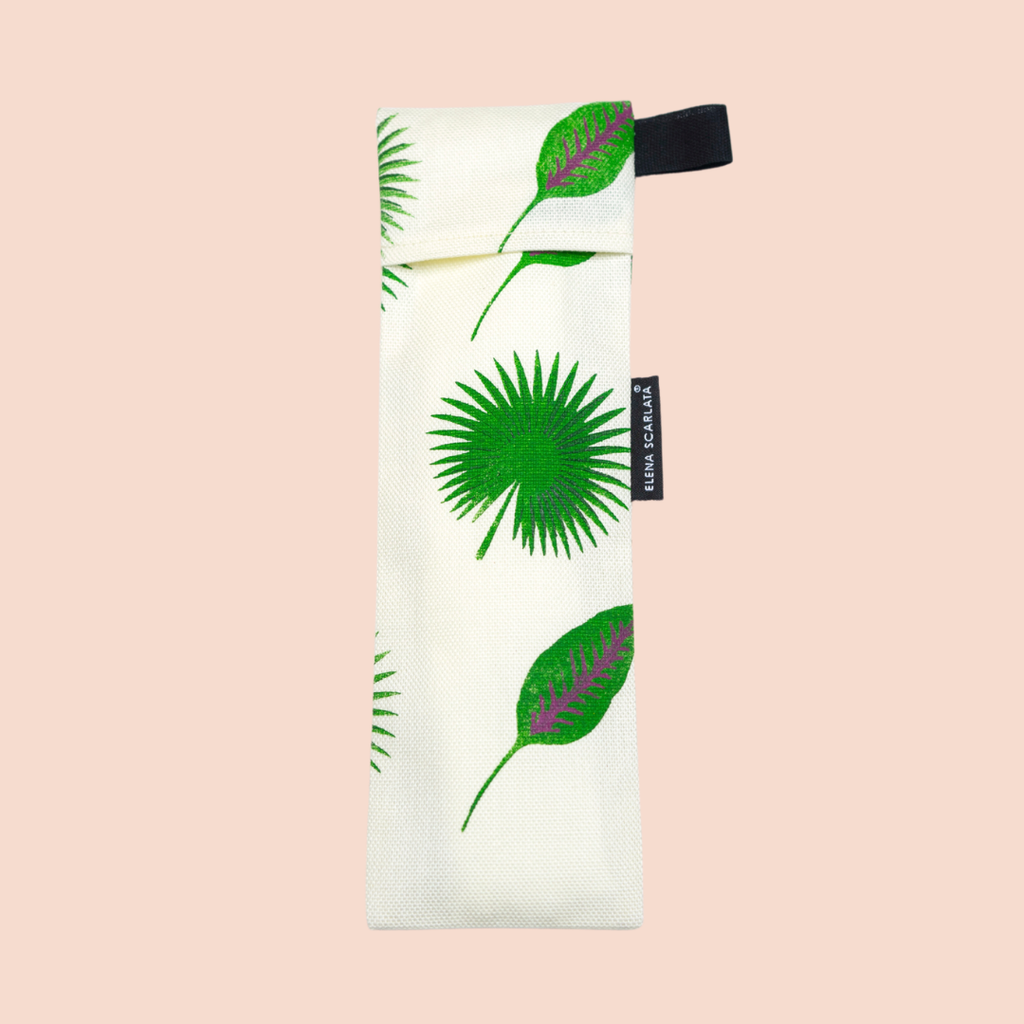 Eco Travel Toothbrush Pouch - ES Studio - Pink Moon
