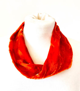 Rust/Orange Devore Snood