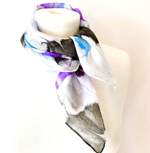 White Blue Black Neckscarf