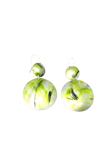 Lime Green and Black Dangles