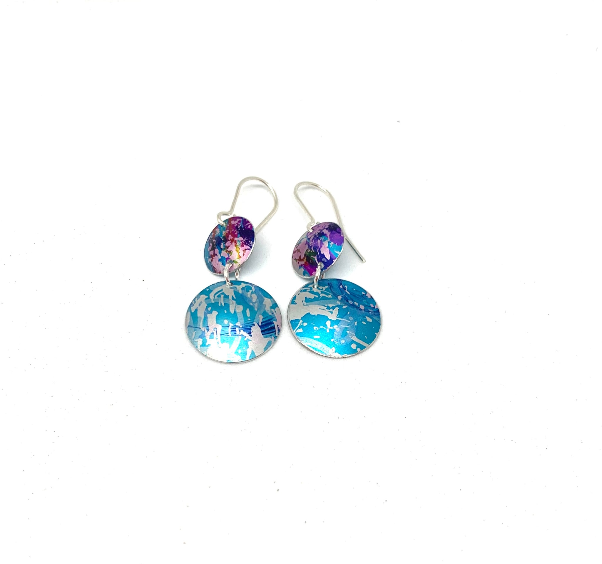 Turquoise Ocean and Navy dropper earrings