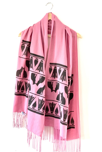 Pink Cat Scarf