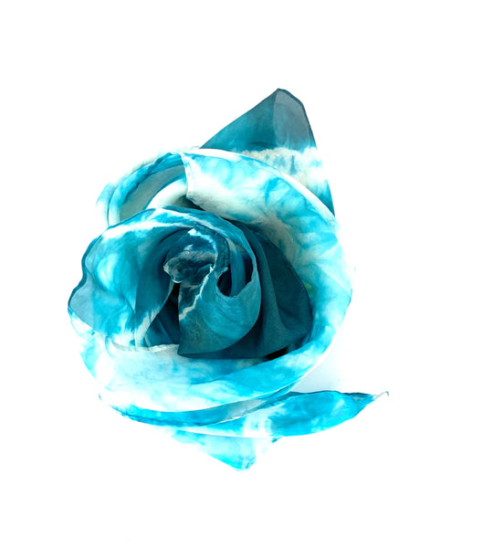 Designer | Blue | Silk Neck-scarf