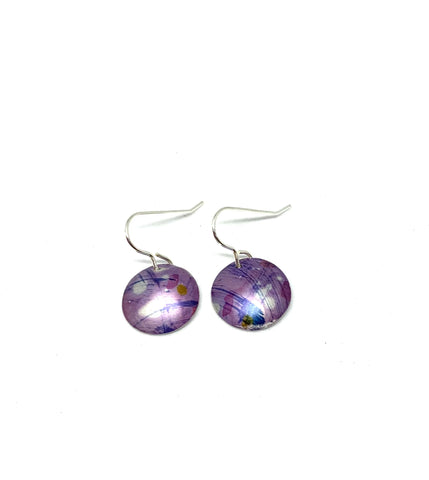 unique coloured jewellery by rachel-stowe mystical purple earrings