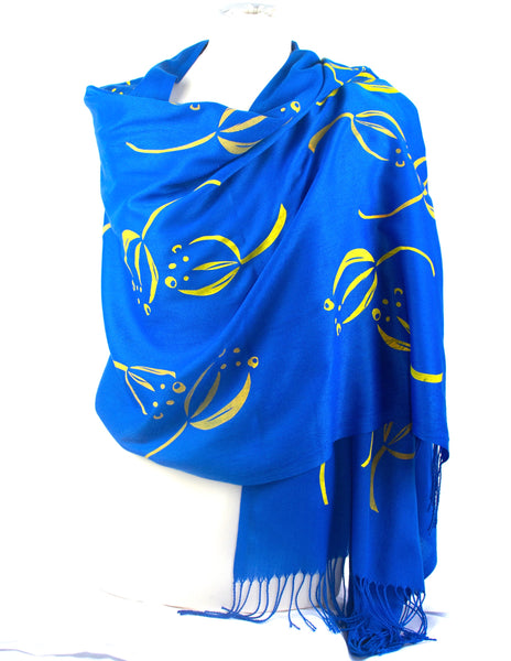 Bright Blue/yellow  Scarf