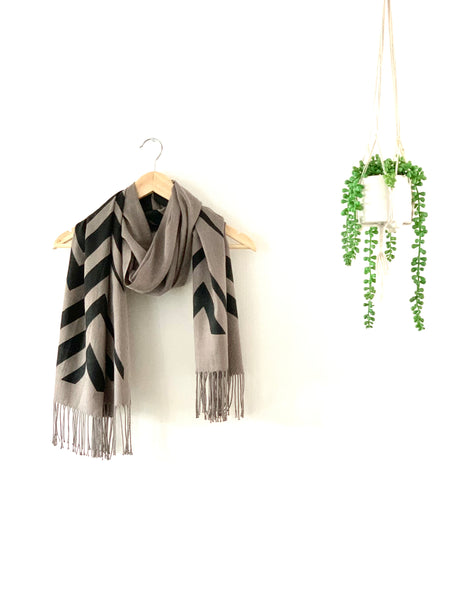 Grey /black Scarf