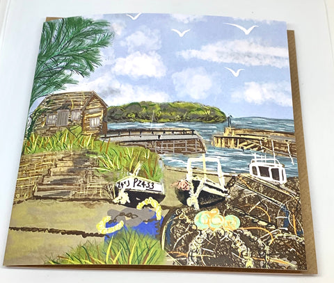 Mullion Harbour Greeting Card