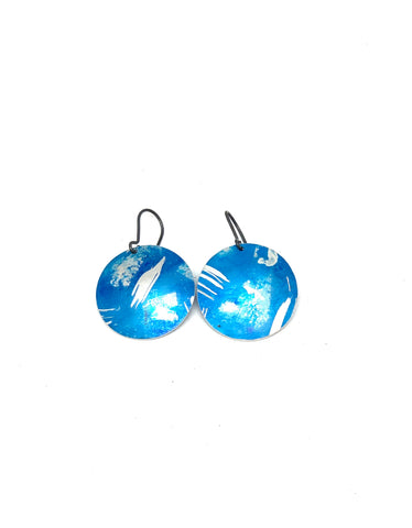 Bright Blue Mid Earrings