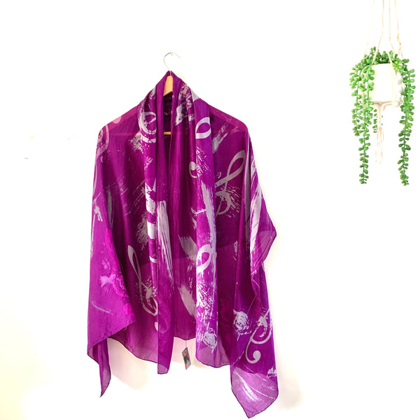 Purple musical silk wrap