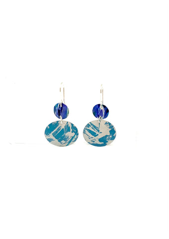 Navy and Turquoise Earrings