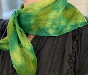 Designer pure silk scarf shibori style hand dyed unique womens accessories-rachel stowe