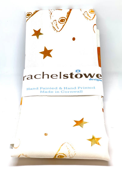 Star Gazey Pie orange/brown T-Towel