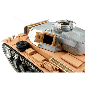1/16 RC Panzer III unlackiert BB + Solution Box