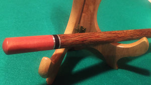 1-Piece Wand-Red Palm Body w/Pink Ivory Tips