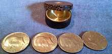 Load image into Gallery viewer, Custom Exotic Wood/Brass Okito Boxes (fits Kennedy Half Dollars)