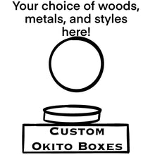 Load image into Gallery viewer, Custom Exotic Wood/Brass Okito Boxes (fits Morgan Dollars)