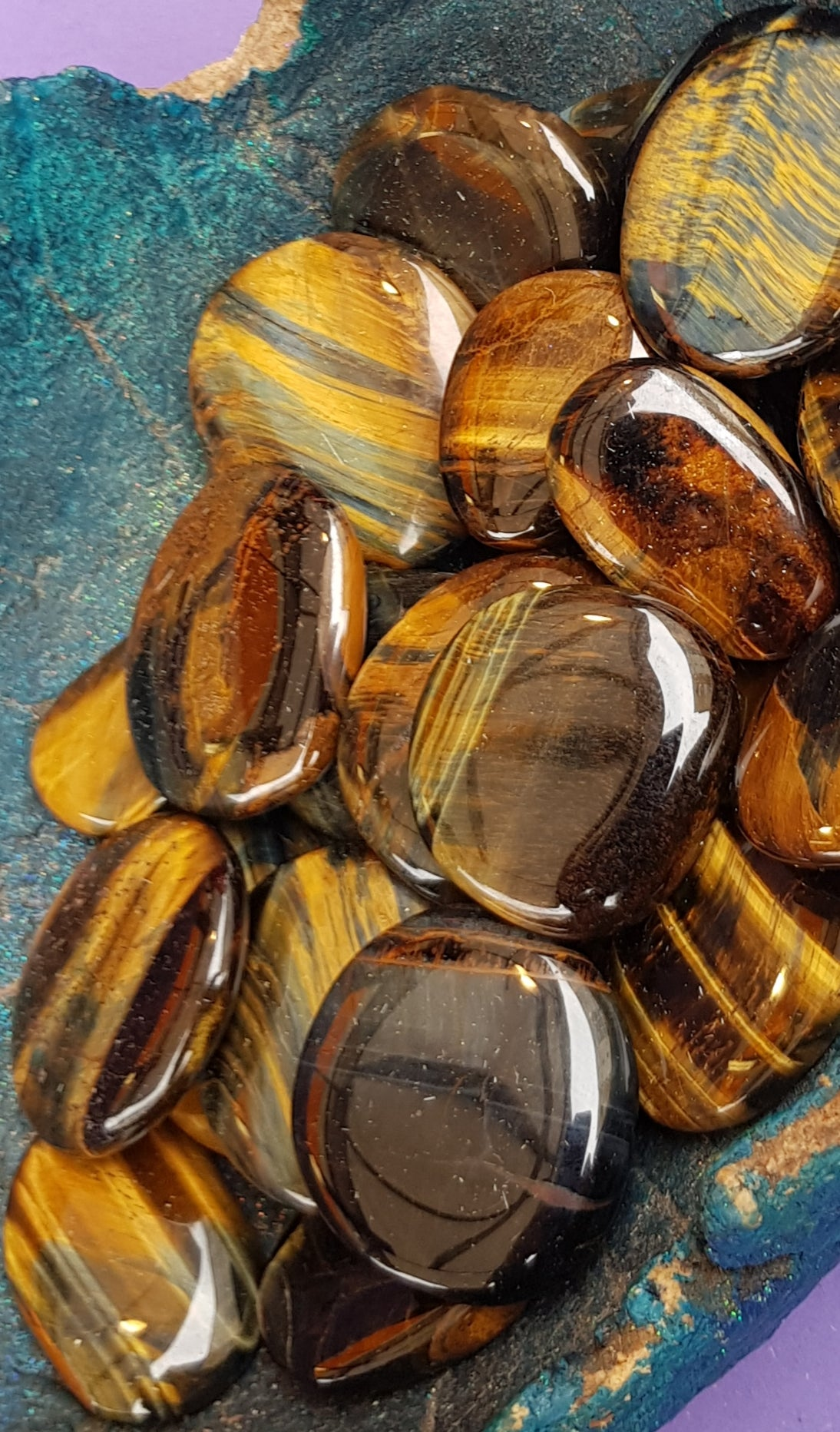Tiger Eye palmstones - The Science of Magic