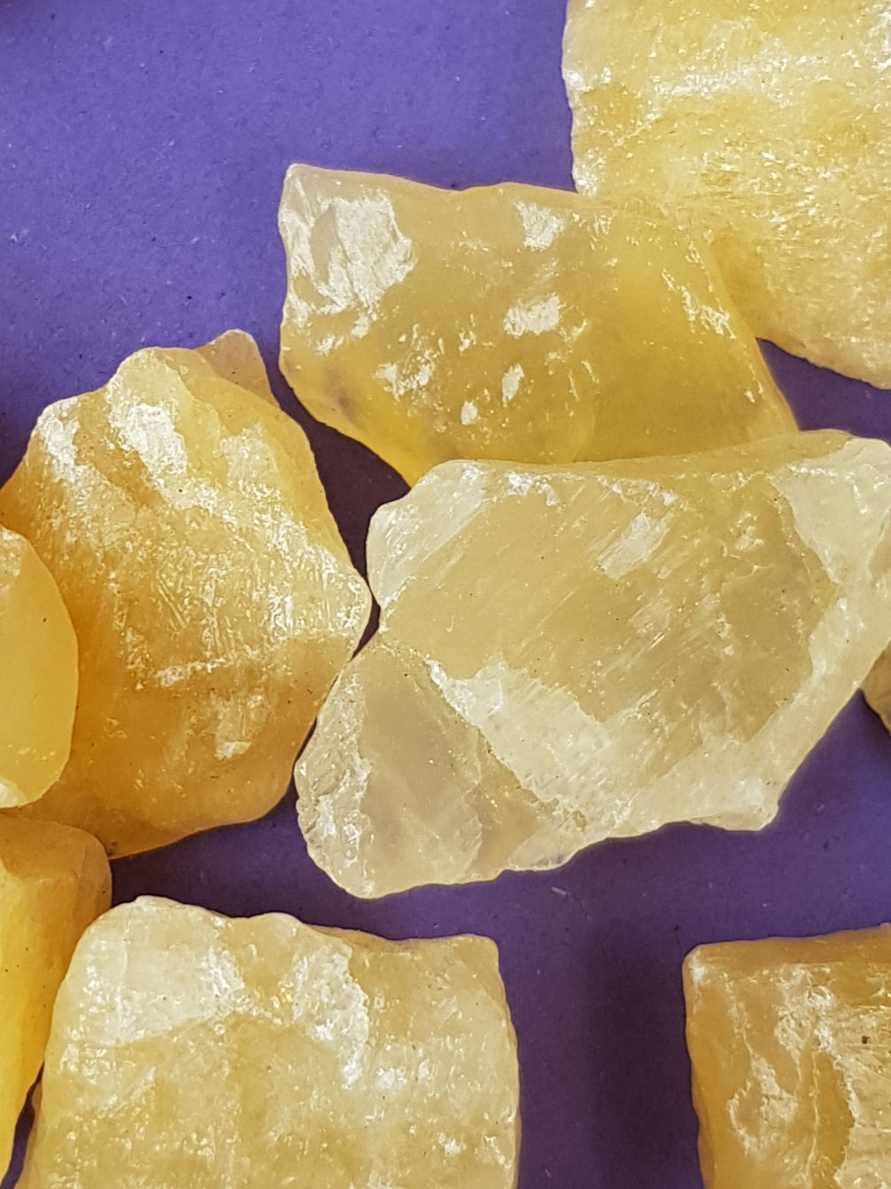 Raw orange calcite - The Science of Magic