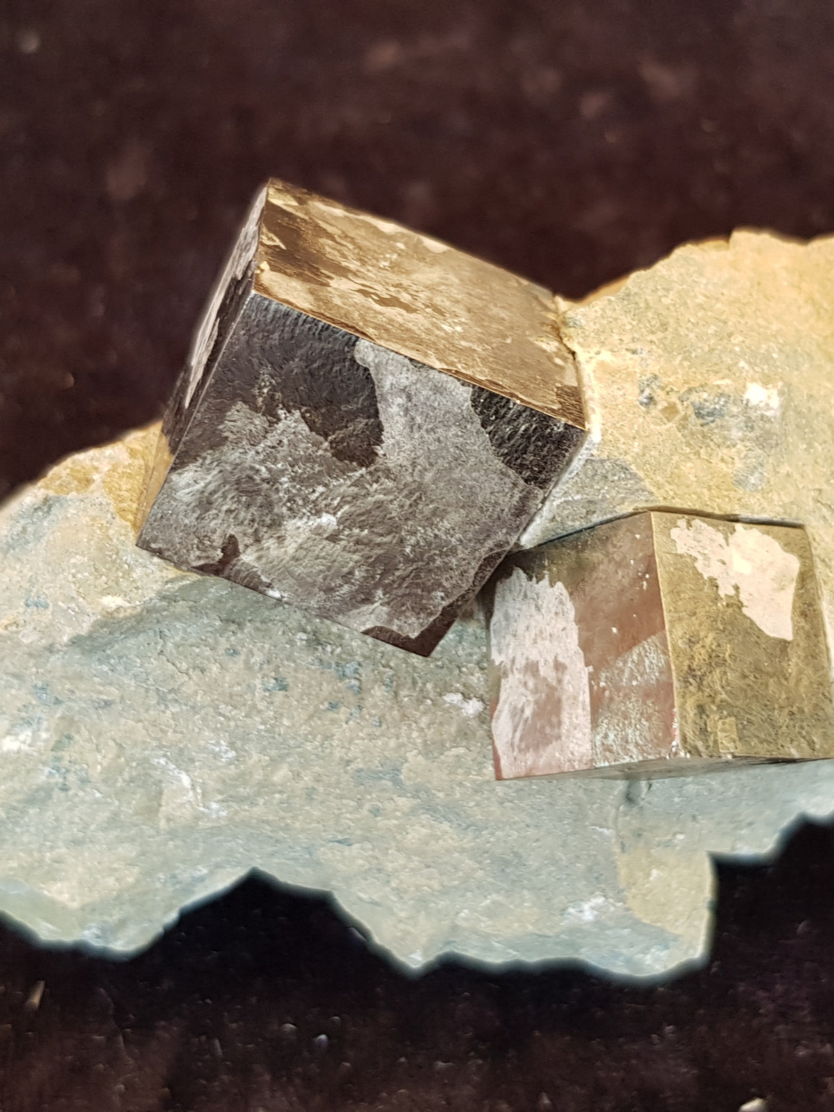 Iron pyrite crystals in marl - The Science of Magic