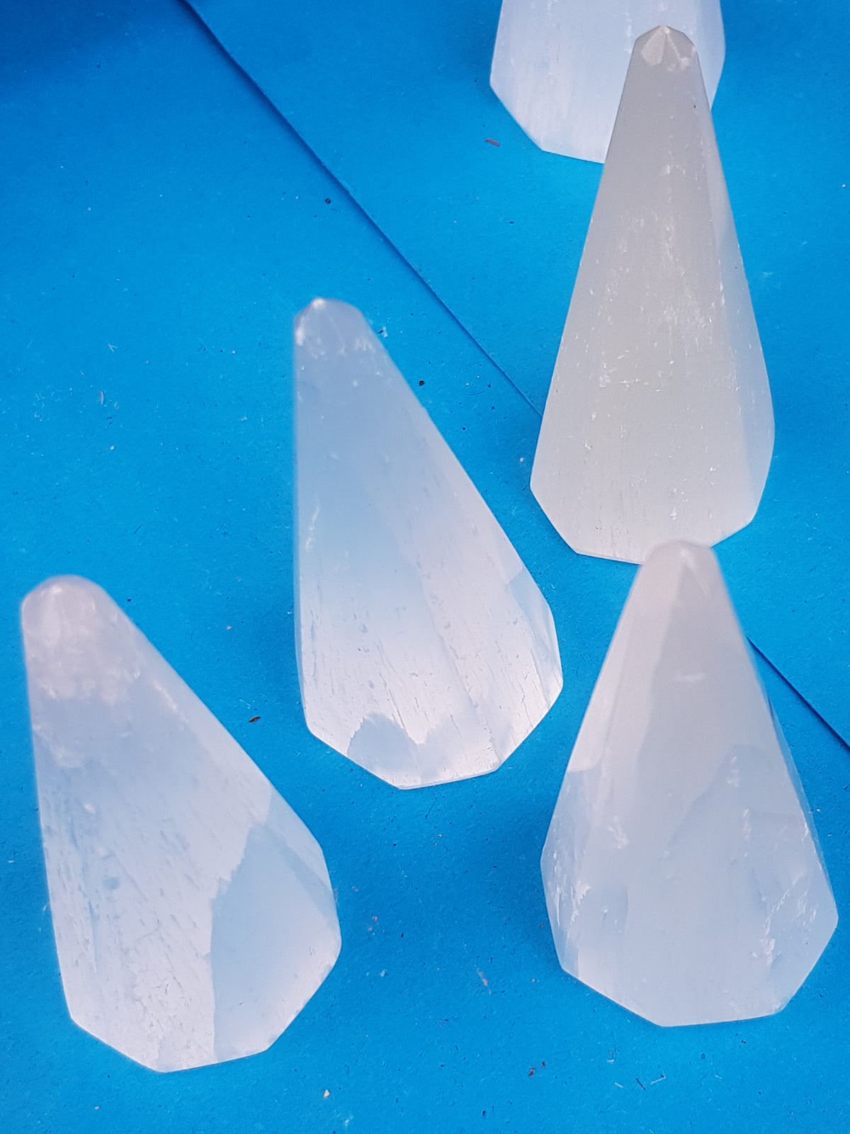 Selenite obelisk (fibre optic) - The Science of Magic