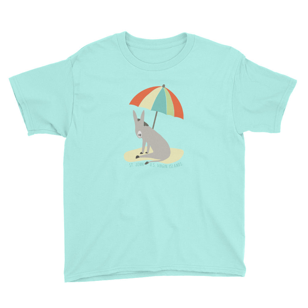 beach donkey kids tee