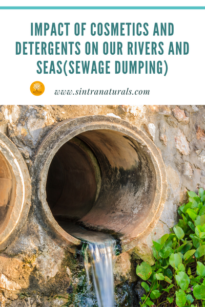IMPACT OF COSMETICS AND DETERGENTS ON OUR SEAS AND RIVERS(SEWAGE WASTE DUMPING)