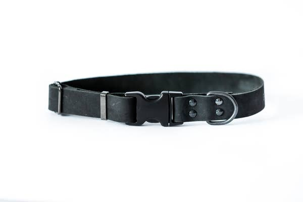 Euro-Dog Collars and Leads - Sport Collar - Black medium/Large