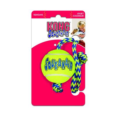 Kong Air Kong Squeaker Ball With Rope Medium