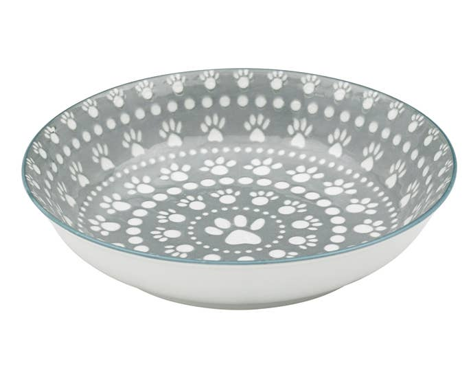 Ore' Pet by Ore' Originals - Shallow Bowl Santa Fe - Grey