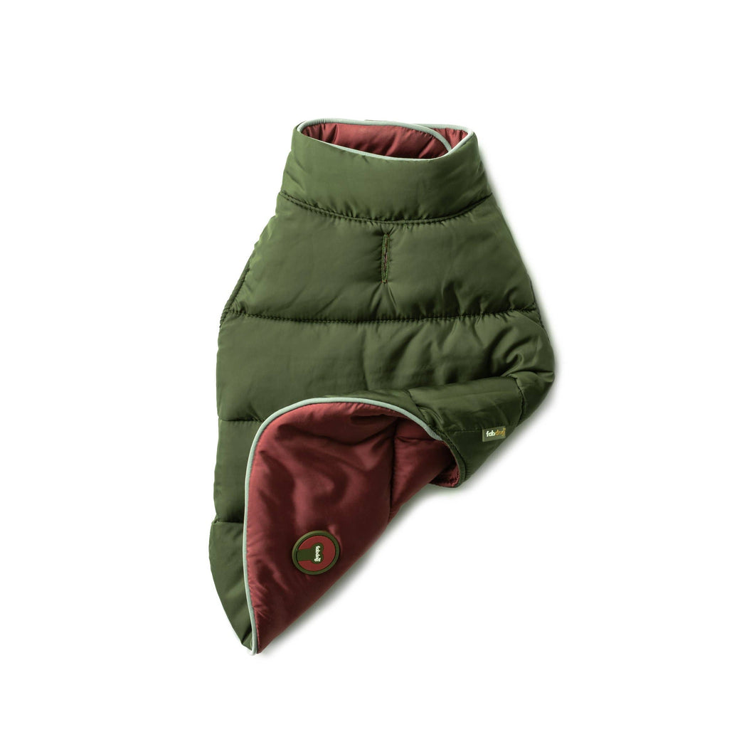 Burgundy Olive Reversible Puffer size 12