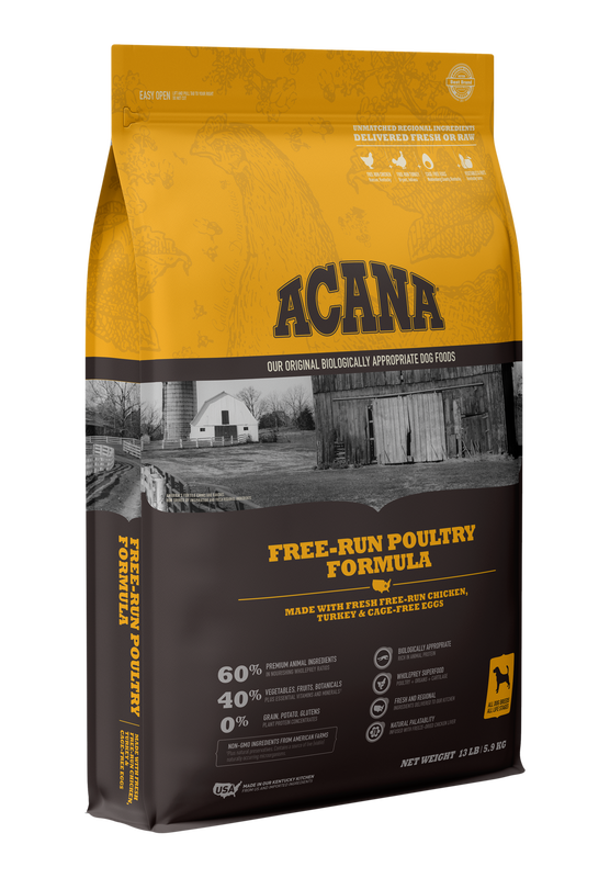ACANA DOG HERITAGE FREE RUN POULTRY GRAIN FREE 4.5#