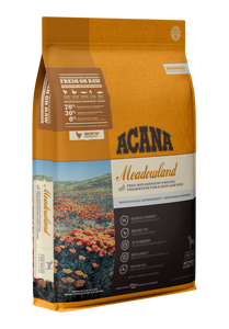 ACANA DOG REGIONALS MEADOWLAND GRAIN FREE 25#