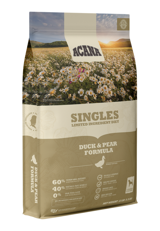 ACANA DOG SINGLES DUCK PEAR GRAIN FREE 4.5#