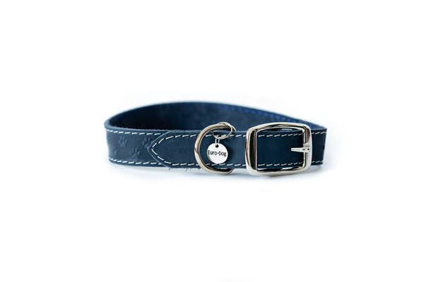 Euro-Dog Collars and Leads - Elegant Collar - Navy