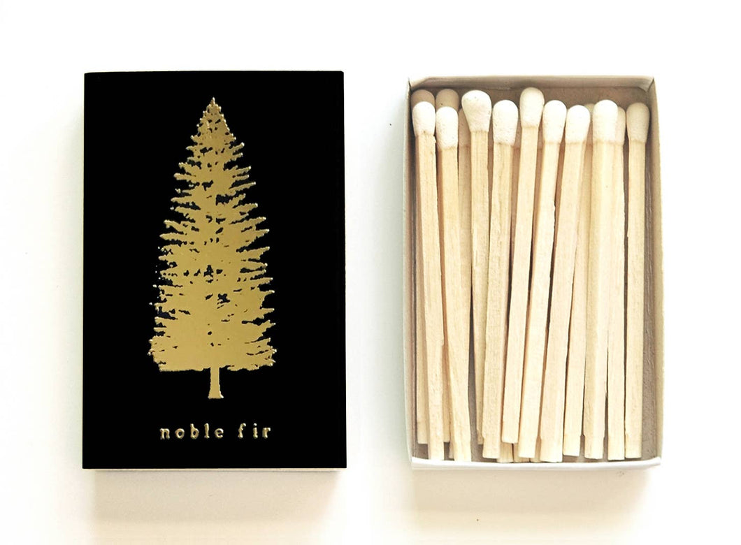 Noble Fir Tree Matchbox - Black Box