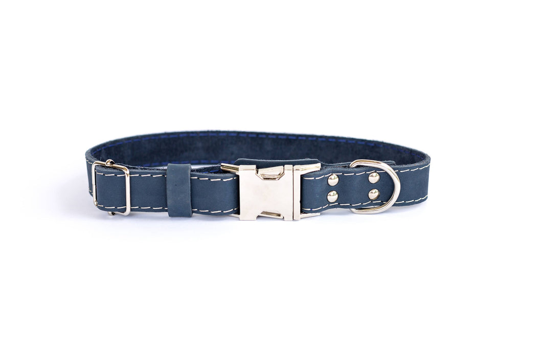 Euro-Dog Collars and Leads - Collar Quick Release - Navy