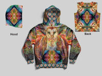 Artwork Owl Pull Over Hoodie (Men & Women)