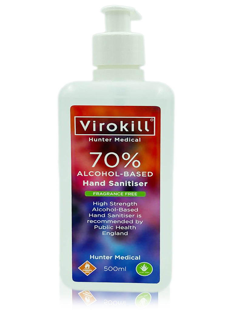 500ml 70% Alcohol-Based Hand Sanitiser (3 bottles of 500ml per pack)