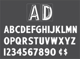 "6"" Changeable Sign Letters / Set of 300 Letters & Numbers @ $1.86/pc."