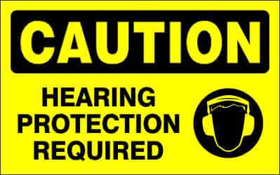 CAUTION - HEARING PROTECTION REQUIRED - CA311