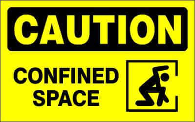 CAUTION Sign - CONFINED SPACE