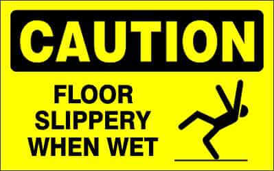 CAUTION - FLOOR SLIPPERY WHEN WET - CA670