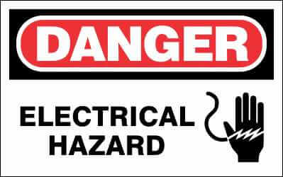 DANGER Sign - ELECTRICAL HAZARD