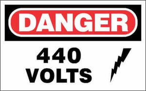 DANGER Sign - 440 VOLTS