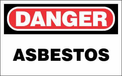 DANGER Sign - ASBESTOS