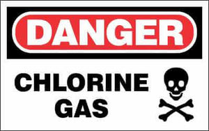 DANGER Sign - CHLORINE GAS