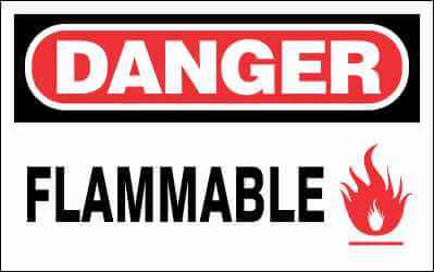 DANGER Sign - FLAMMABLE